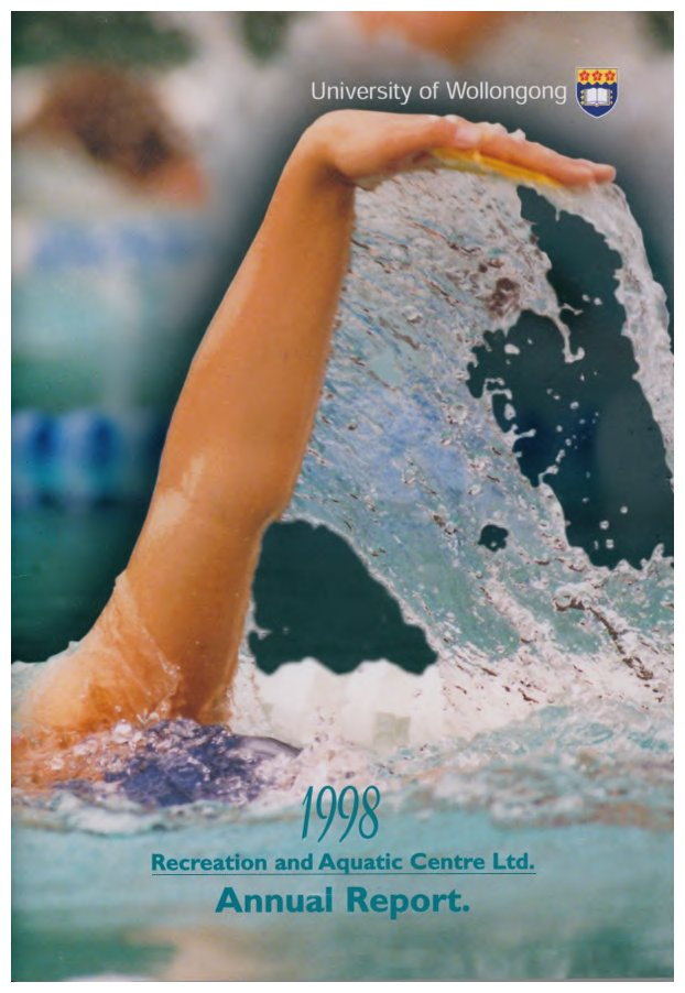University of Wollongong Recreation and Aquatic Centre Annual Reports