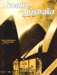 Theatre Australia: Australia's National Theatre Magazine 1(1) August-September 1976 by Robert Page, Bruce Knappett, and Lucy Wagner