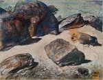 Boulders at Werri Beach 1 by Lloyd Rees