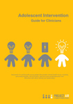 Adolescent Intervention : Guide for Clinicians by University of Wollongong