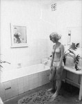 Woman statue in bathroom by Greg Weight