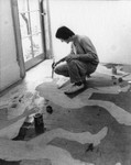 Painting figures on the floor